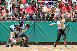 29 May 2017:  #7 Ottawa Marquette Crusaders v Heyworth Hornets at IWU in Bloomington Illinois for the IHSA Class 1A Softball Sectional Championship.