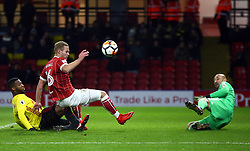 January 6, 2018 - Watford, England, United Kingdom - Bristol City's Gustav Engvall during FA Cup 3rd Round match between Watford  and Bristol  City at Vicarage Road Stadium, Watford ,  England 06 Jan 2018. (Credit Image: © Kieran Galvin/NurPhoto via ZUMA Press)