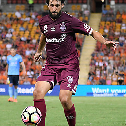 BRISBANE, AUSTRALIA - FEBRUARY 3: Thomas Broich of the Roar controls the ball during the round 18 Hyundai A-League match between the Brisbane Roar and Sydney FC at Suncorp Stadium on February 3, 2017 in Brisbane, Australia. (Photo by Patrick Kearney/Brisbane Roar)