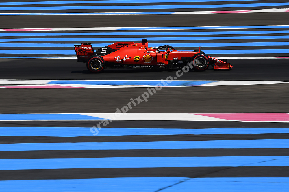 Sebastian Vettel (Ferrari) during practice for the 2019 French Grand Prix at Paul Ricard. Photo: Grand Prix Photo