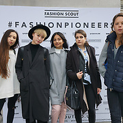 London, England, UK. 18th September 2017.  Collages students attends the Fashion Scout SS18 Day 4 at Freemason Hall.