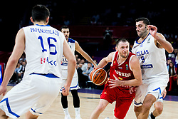 Vitaly Fridzon of Russia vs Ioannis Bourousis of Greece during basketball match between National Teams of Greece and Russia at Day 14 in Round of 16 of the FIBA EuroBasket 2017 at Sinan Erdem Dome in Istanbul, Turkey on September 13, 2017. Photo by Vid Ponikvar / Sportida