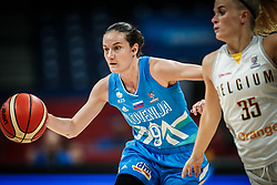 Nika Baric of Slovenia vs Julie Vanloo of Belgium during basketball match between Women National teams of Belgium and Slovenia in the Qualification for the Quarter-Finals of Women's Eurobasket 2019, on July 2, 2019 in Belgrade Arena, Belgrade, Serbia. Photo by Vid Ponikvar / Sportida