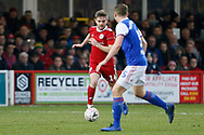 Accrington Stanley midfielder Sam Finley (14) in action  during the The FA Cup 3rd round match between Accrington Stanley and Ipswich Town at the Fraser Eagle Stadium, Accrington, England on 5 January 2019.