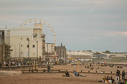 A new Ferris Wheel has appeared in Portobello, Edinburgh almost overnight and locals are bemused that they had heard nothing about it. The wheel is believed to have a temporary license for the month of August  which was approved without any local consulltation despite the potential for noise and disturbance to neighbouring houses.  © Jon Davey/ EEm