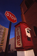 Antique Fire Call Box, Herr and 6th St., 1985, Harrisburg, Pennsylvania