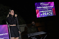 JoJo performs on stage during Creative Community For Peace 2nd Annual 'Ambassadors Of Peace' Gala held at Los Angeles on September 26, 2019 in Private Residence, California, United States (Photo by © Jc Olivera/VipEventPhotography.com