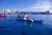 Kayaking, Waikiki, Oahu, Hawaii<br />