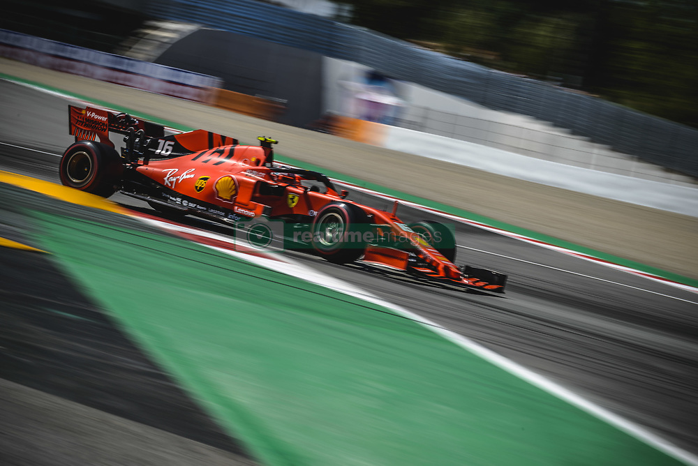 May 12, 2019 - Barcelona, Catalonia, Spain - CHARLES LECLERC (MON) from team Ferrari drives in their SF90 during the Spanish GP at Circuit de Catalunya (Credit Image: © Matthias Oesterle/ZUMA Wire)