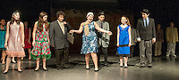 Thoroughly Modern Millie (Kate Persson) makes her entrance during dress rehearsal at Laconia Middle School Wednesday afternoon.  (Karen Bobotas/for the Laconia Daily Sun)
