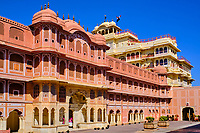 Inde, Rajasthan, Jaipur la ville rose, le City Palace // India, Rajasthan, Jaipur the Pink City, the City Palace