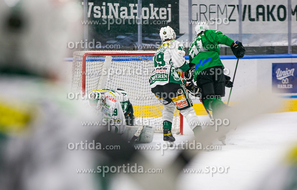 91# Cimzar Tadej of HK SZ Olimpija during the match of Alps Hockey League 2020/21 between HK SZ Olimpija Ljubljana vs. EC Bregenzerwald, on 09.01.2021 in Hala Tivoli in Ljubljana, Slovenia. Photo by Urban Meglič / Sportida