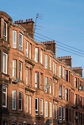 Tenement apartment building in deprived Govanhill district of Glasgow, Scotland, United Kingdom