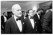 R.M Hilary and H.M Newton, Hawks Club dinner, Savoy 8.12.86© Copyright Photograph by Dafydd Jones 66 Stockwell Park Rd. London SW9 0DA Tel 020 7733 0108 www.dafjones.com