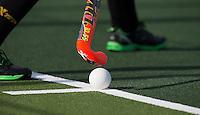 DEN BOSCH - stick met bal bij aangeven strafcorner  tijdens de hoofdklasse wedstrijd tussen de dames van Den Bosch en SCHC (3-2) . COPYRIGHT KOEN SUYK
