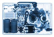 A Kodak Disc camera model 4000 is shown in X-ray.