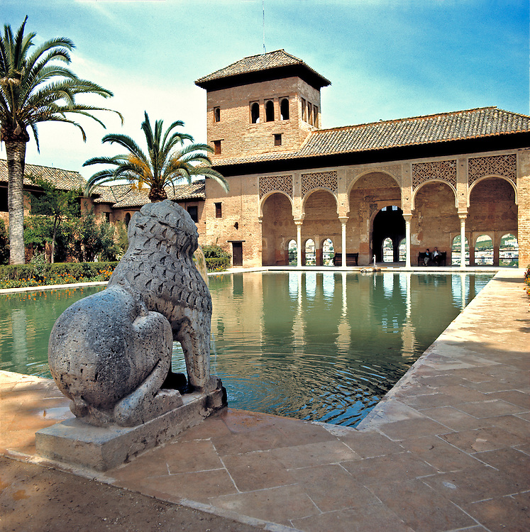 The Place of Partal in the Generaliffe Gardens is the oldest building in the Alhambra Palace, Granada, Spain.