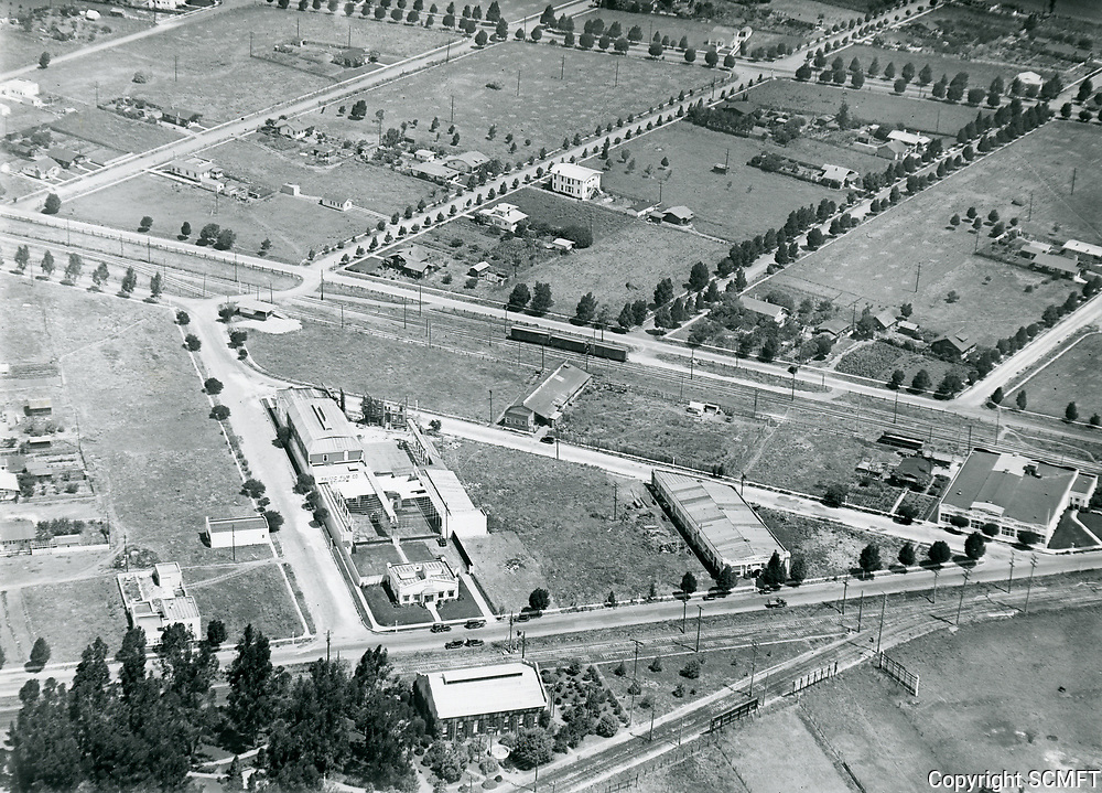 1922 Aerial of Pacific Film Co. in Culver City