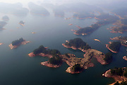 HANGZHOU, March 15, 2016 (Xinhua) -- <br /> <br /> aerial view of the Qiandao Lake, or Thousand-Island Lake, in Chun'an County of Hangzhou, east China's Zhejiang Province. With 1,078 islands scattered across the lake, Qiandao Lake is a famous spot for sightseeing in China. <br /> ©Exclusivepix Media