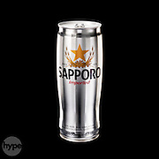 A beautifully designed silver beer can product, photographed on a black background to accentuate its form, colour and typography. Photographed in the Hype studio by photographer Stuart Freeman.