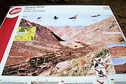 Information panel about Presa de la Penitas dam, Fuerteventura, Canary Islands, Spain