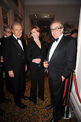 Left to right, SIR DAVID FROST, JANE ASHER and GERALD SCARFE at a gala dinner in celebration of 80 years since the first Foyles Literary Luncheon, held in The Ball Room, Grosvenor House Hotel, Park Lane, London on 21st October 2010.