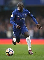 Chelsea's N'Golo Kante during the Premier League match at Stamford Bridge, London.
