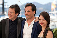 Director Francisco Marquez, actor Diego Velazquez and director Andrea Testa<br /> at the The Long Night of Francisco Sanctis (La Larga Noche De Francisco Sanctis) film photo call at the 69th Cannes Film Festival Friday 20th May 2016, Cannes, France. Photography: Doreen Kennedy