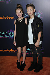 November 11, 2016 - New York, NY, USA - November 11, 2016  New York City..Lauren Orlando and Johnny Orlando attending the 2016 Nickelodeon HALO awards at Basketball City Pier 36  South Street on November 11, 2016 in New York City. (Credit Image: © Callahan/Ace Pictures via ZUMA Press)