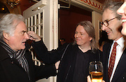 Hugh Hudson and Christopher Hampton, Opening night of Embers, Duke of York's theatre. St. Martin's Lane. London. 1 March 2006. ONE TIME USE ONLY - DO NOT ARCHIVE  © Copyright Photograph by Dafydd Jones 66 Stockwell Park Rd. London SW9 0DA Tel 020 7733 0108 www.dafjones.com