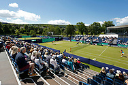 Spectators watching the Women's Doubles semi final during the Fuzion 100 Ilkley Lawn Tennis Trophy Tournament held at Ilkley Lawn Tennis and Squad Club, Ilkley, United Kingdom on 19 June 2019.