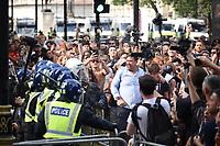 the Worldwide Rally For Freedom protest Trafalgar Square, London, United Kingdom