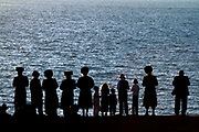 "Hasidic Jews perform a Tashlich (lit. ""cast off"") ritual prior to Yom Kippur   Netanya"