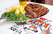 Rio de Janeiro_RJ, Brasil...Um dos pratos mais pedidos do tradicional Restaurante Nova Capela, o mais antigo da Lapa: cabrito assado, acompanhado de arroz de brocolis e batatas coradas...One of the most requested dishes from the traditional Restaurant Nova Capela , the oldest restaurant in Lapa. In this photo roast lamb, rice with broccoli and roasted potatoes...Foto: BRUNO MAGALHAES / NITRO