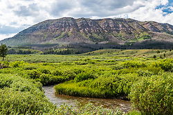 The headwaters of Piny Creek on the south end of the Wyoming Range near Big Piney Wyoming.