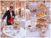 Afternoon Tea At Palm Court At The Ritz Hotel shot for Nostalgic London guidebook published by Luster Books