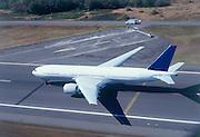 Boeing 777 on runway