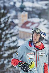 29.01.2019, Planai, Schladming, AUT, FIS Weltcup Ski Alpin, Slalom, Herren, Streckenbesichtigung, im Bild Ramon Zenhaeusern (SUI) // Ramon Zenhaeusern of Switzerland during course inspection for the men's Slalom of FIS ski alpine world cup at the Planai in Schladming, Austria on 2019/01/29. EXPA Pictures © 2019, PhotoCredit: EXPA/ Dominik Angerer