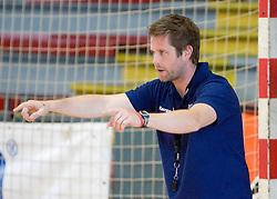Head coach Primoz Pori at practice of Slovenian Handball Women National Team, on June 3, 2009, in Arena Kodeljevo, Ljubljana, Slovenia. (Photo by Vid Ponikvar / Sportida)