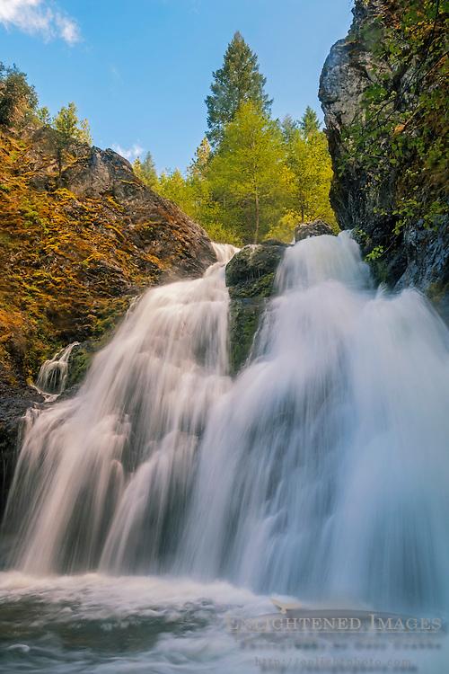 Faery Falls, along Nye Creek, Shasta National Forest, Siskiyou County, California
