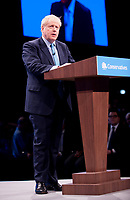 Prime Minister  Boris Johnson makes his leader's speech on the final day of the conference.<br /> 2 Oct 2019
