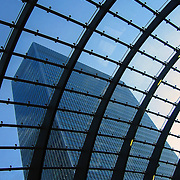 Emerging at Canary Wharf, London, England (July 2004)