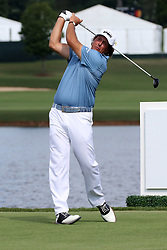 September 20, 2018 - Atlanta, GA, U.S. - ATLANTA, GA - SEPTEMBER 20: Phil Mickelson tees off on the 16th hole during the first round of the PGA Tour Championship on September 20, 2018, at East Lake Golf Club in Atlanta, GA. (Photo by Michael Wade/Icon Sportswire) (Credit Image: © Michael Wade/Icon SMI via ZUMA Press)
