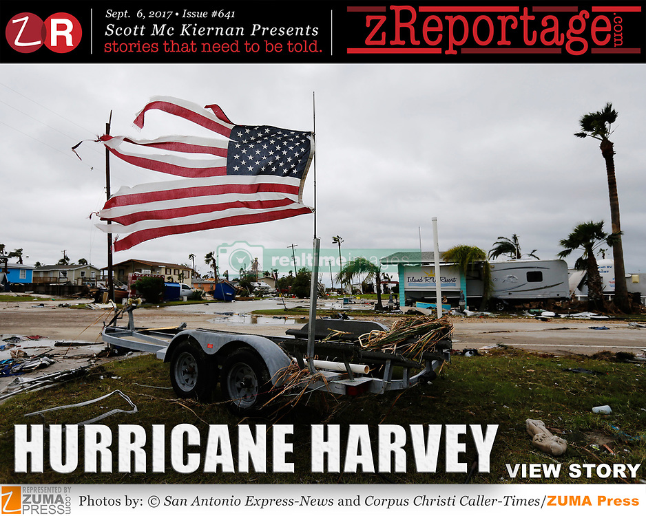 zReportage.com Story of the Week # 641 -  Hurricane Harvey - Launched Sept. 6, 2017 - Full multimedia experience: audio, stills, text and or video: Go to zReportage.com to see more - Hurricane Harvey could be the costliest natural disaster in U.S. history with a potential price tag of $190 billion, according to a preliminary estimate from private weather firm AccuWeather. Hurricane Harvey dumped 33 trillion gallons of water in the U.S. Its blistering winds destroyed buildings, boats and homes standing in its path. At least 33 people have been killed in eastern Texas since the storm hit. Parts of Texas have been hit by more than 51in of rainfall since Hurricane Harvey landed on 25 August, setting new rainfall records for the contiguous-US. Large areas of Houston, the fourth most populous city in the US, remain under water. More than 10,000 rescues have been made so far, with neighbors and strangers stepping in to help in unprecedented numbers. Almost 325,000 people have registered with Federal Emergency Management Agency for disaster assistance. No one knows how many people are in shelters, just that more are expected. (Credit Image: ? Kin Man Hui/San Antonio Express-News/zReportage.com via ZUMA Wire)