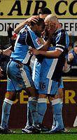 Photo: Richard Lane.<br />Wycombe Wanderers v Chelsea. Carling Cup, Semi Final 1st Leg. 10/01/2007. <br />Wycombe's Jermaine Easter celebrates scoresing their equalising goal with Tommy Mooney.