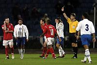 Fotball<br /> VM-kvalifisering<br /> Azerbaijan / Aserbaijan v England<br /> 13.10.2004<br /> Foto: BPI/Digitalsport<br /> NORWAY ONLY<br /> <br /> 13/10/2004 Azerbaijan v England, World Cup Qualifier, Tofiq Berhamov Stadium<br /> <br /> Wayne Rooney is booked
