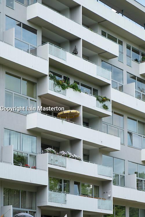 apartment building at Hansaviertel modernist housing estate in Berlin Germany