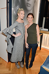Left to right, OLIVIA BUCKINGHAM and KIKA PRETTE Creative Director of APM Monaco at a party to celebrate the launch of the APM Monaco Flagship Store at 3 South Molton Street, London on 11th February 2016