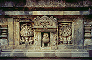 Carving at Hindu temple at Prambanan <br />