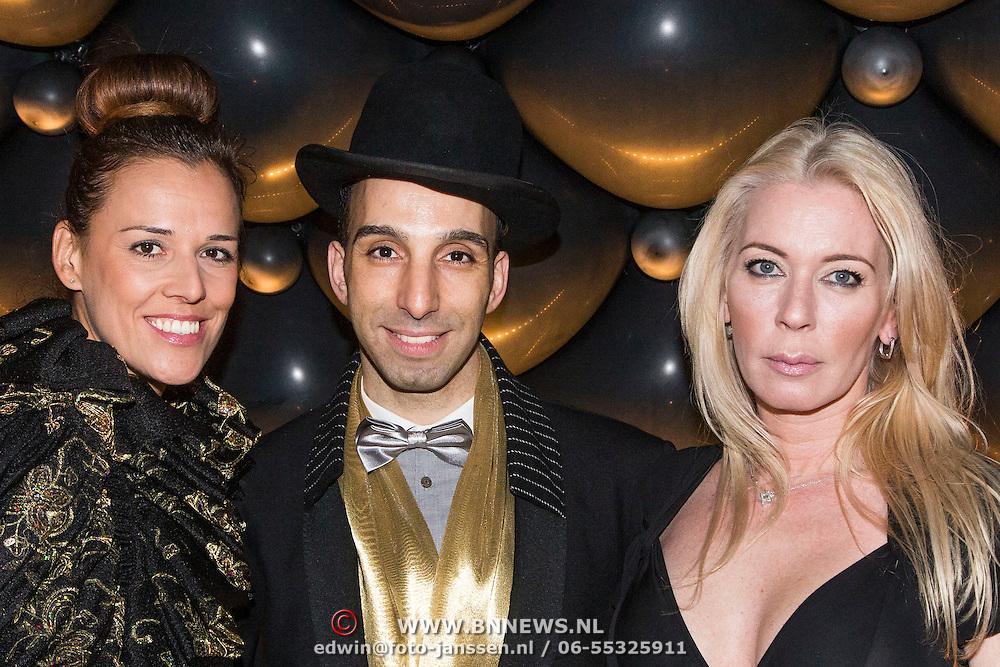 NLD/Amsterdam//20140329 - Emma Fund Raising 2014, Bojana Duovski, Aziz Bekkaoui en Nathalie Edelsztejn